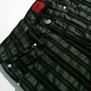 Tripp Nyc black striped skinny pants
